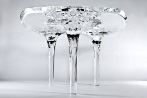 Water Dining Table Design by Zaha Hadid