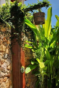 Outdoor-Shower-Idea-Jungle-Themed-with-Shower-Post-Completed-with-Shower-Fixtures