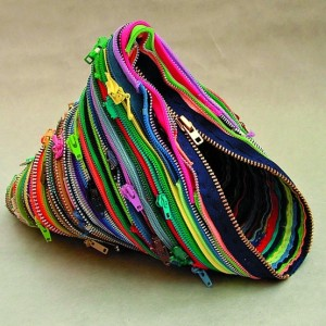 Recycled-zippers